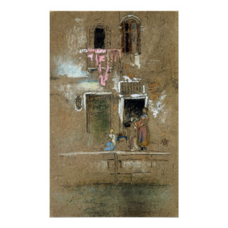 James McNeill Whistler Note in Pink and Brown Poster