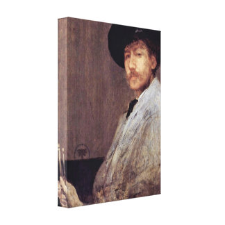 James McNeill Whistler - Portrait of the Artist Gallery Wrap Canvas