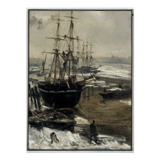 James McNeill Whistler The Thames in Ice Poster