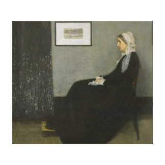 James McNeill Whistler's Mother Canvas Print