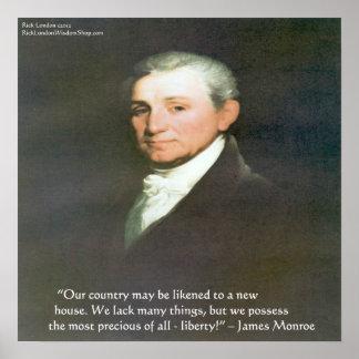 James Monroe American Liberty Wisdom Quote Poster
