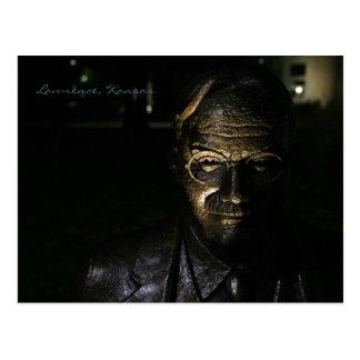 James Naismith Bronze Statue Postcard