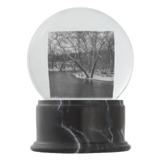 James River Cuts Back Grayscale Snow Globes