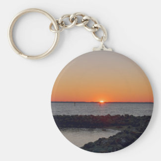 James River Sunset Basic Round Button Key Ring