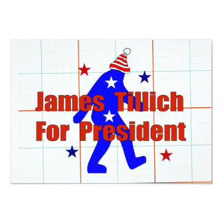 James Tillich For President 13 Cm X 18 Cm Invitation Card