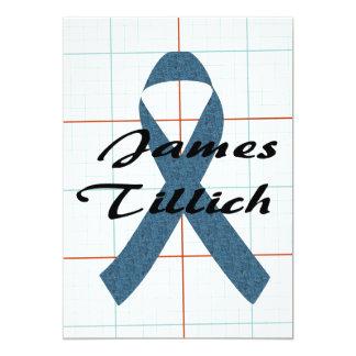 James Tillich Ribbon 13 Cm X 18 Cm Invitation Card