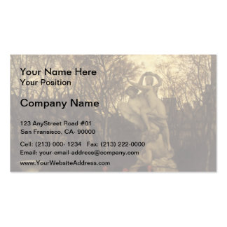James Tissot- Beating the Retreat in Tuileries Business Card Template