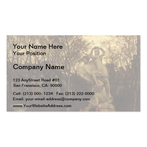 James Tissot- Beating the Retreat in Tuileries Business Card