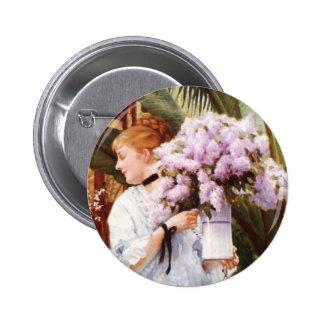 James Tissot Lilacs Button