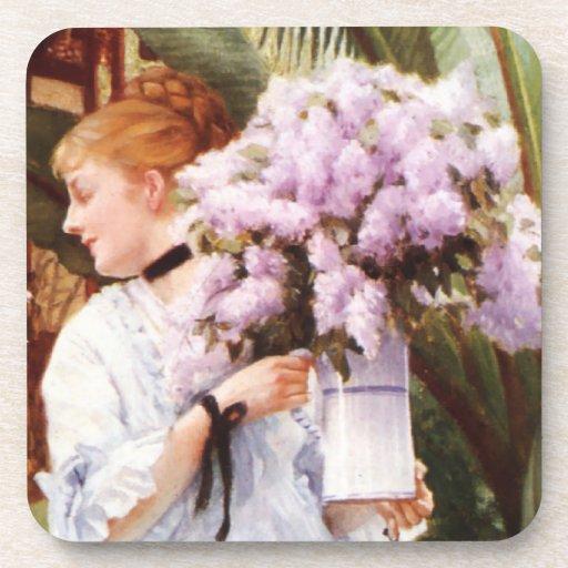 James Tissot Lilacs Coasters