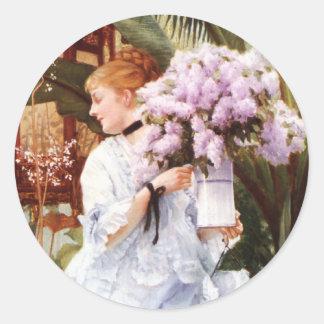 James Tissot Lilacs Stickers