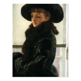 James Tissot- Portrait of Kathleen Newton Postcard