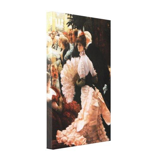 James Tissot The Political Lady Canvas Print