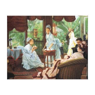 James Tissot Victorian Tea Party Canvas Print