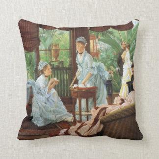 James Tissot Victorian Tea Party Cushion