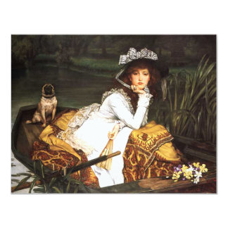 James Tissot Young Lady in a Boat Invitations