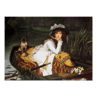 James Tissot Young Lady in a Boat Poster