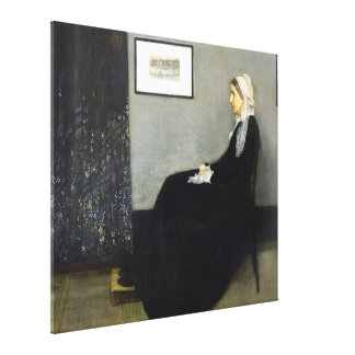 JAMES WHISTLER - Arrangement in gray and black Canvas Print