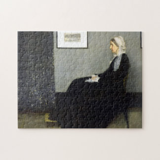 JAMES WHISTLER - Arrangement in grey and black Jigsaw Puzzle
