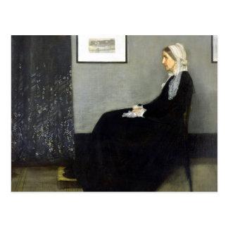 JAMES WHISTLER - Arrangement in grey and black Postcard