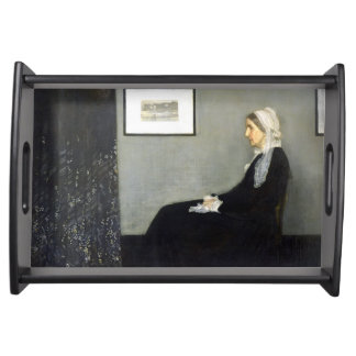 JAMES WHISTLER - Arrangement in grey and black Serving Tray