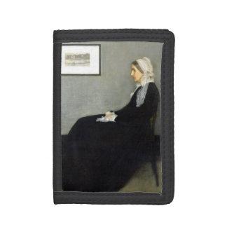 JAMES WHISTLER - Arrangement in grey and black Trifold Wallet