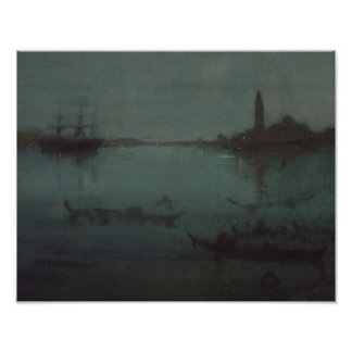 James Whistler - Nocturne in Blue and Silver Photo