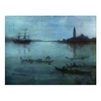 James Whistler-Nocturne in Blue and Silver,Venice Postcard
