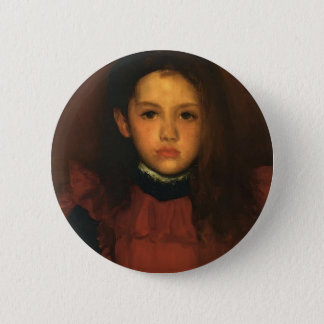 James Whistler- The Little Rose of Lyme Regis 6 Cm Round Badge