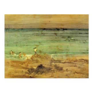 James Whistler- Violet & Blue: The Little Bathers Postcard