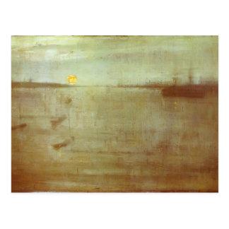 James Whistler-Whistler Nocturne Blue Postcard