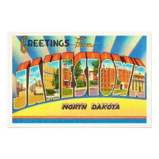 Jamestown North Dakota ND Vintage Travel Souvenir Photograph