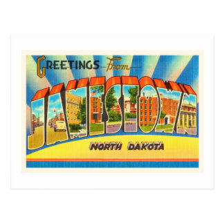 Jamestown North Dakota ND Vintage Travel Souvenir Postcard