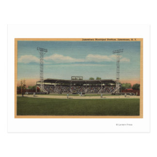 Jamestown, NY - Municipal Baseball Stadium Postcard
