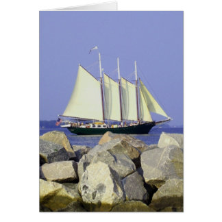 Jamestown Sailboat Greeting Card