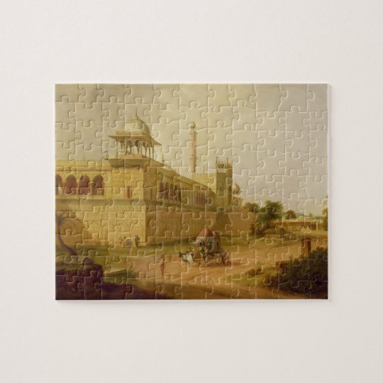 Jami Masjid, Delhi, 1811 (oil on canvas) Jigsaw Puzzle
