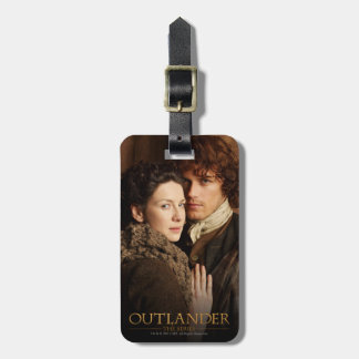 Jamie & Claire embrace photograph Tags For Luggage