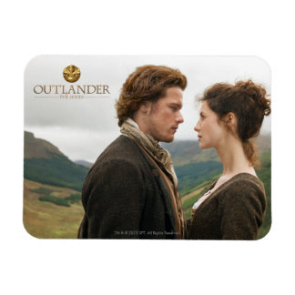 Jamie & Claire face to face photograph Rectangular Photo Magnet