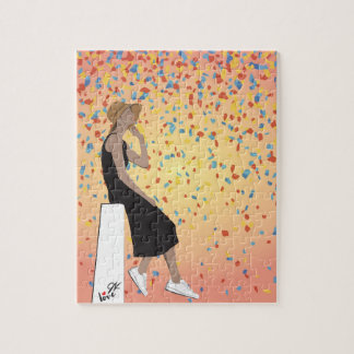 Jamie Kan - Sunset Confetti Jigsaw Puzzle