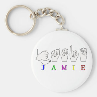 JAMIE NAME SIGN ASL FINGERSPELLED KEY RING