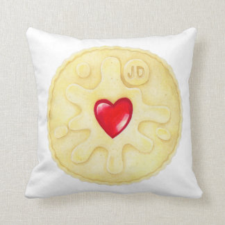 Jammie Dodger Biscuit Cushion
