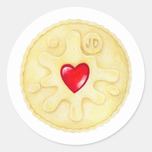 Jammie Dodger Biscuit Sticker