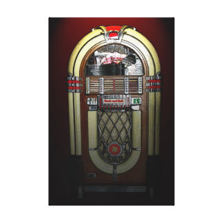Jammin' Jukebox 36 x 24 Stretched Canvas Print