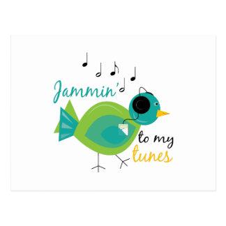 Jammin To Tunes Postcard