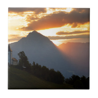 Jamnik church Sunrise Ceramic Tile