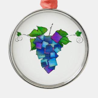 Jamurissa - square grapes metal ornament