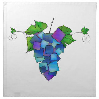 Jamurissa - square grapes napkin