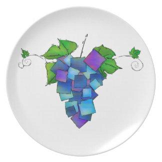 Jamurissa - square grapes plate
