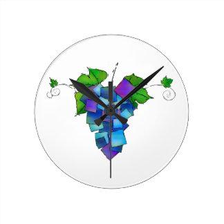 Jamurissa - square grapes round clock