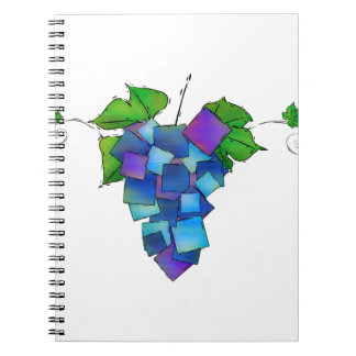 Jamurissa - square grapes spiral notebook